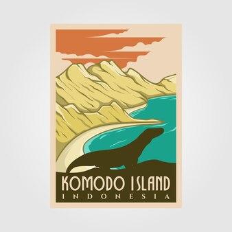 Plakat rocznika wyspy komodo