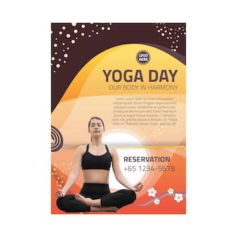 Plakat równowagi ciała jogi