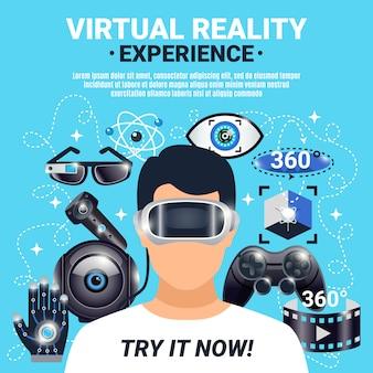 Plakat rzeczywistości wirtualnej