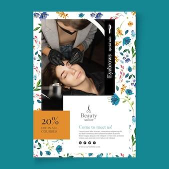 Plakat salonu piękności ze zniżką