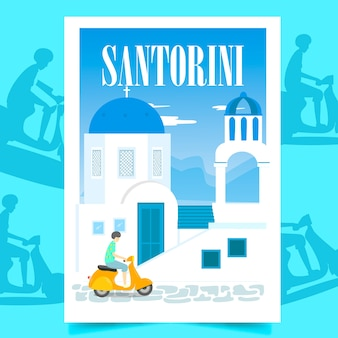 Plakat santorini