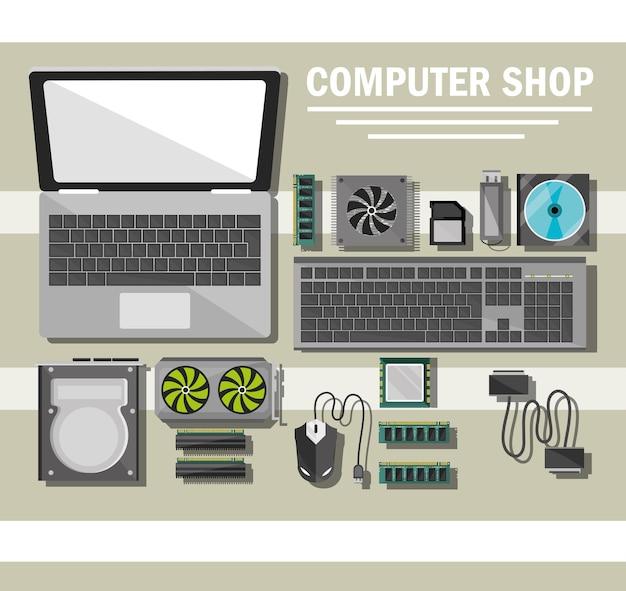 Plakat sklepu komputerowego