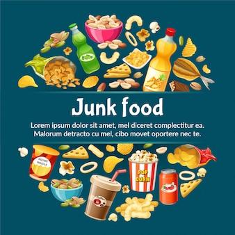 Plakat śmieciowego jedzenia.