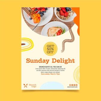 Plakat śniadaniowy z szablonem rabatu