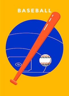 Plakat sportowy gry w baseball