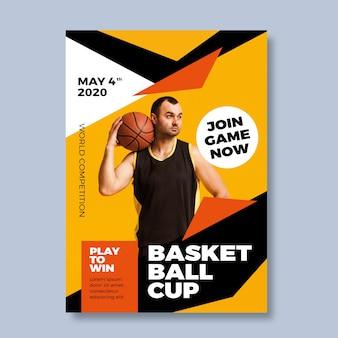 Plakat sportowy ze zdjęciem