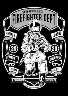 Plakat strażacki