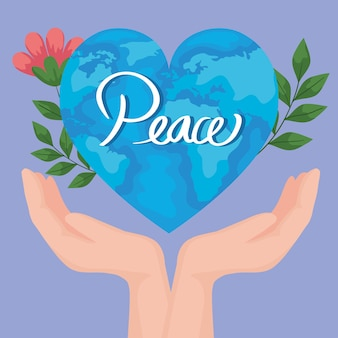 Plakat świata pokoju
