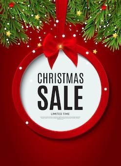 Plakat świątecznej sprzedaży