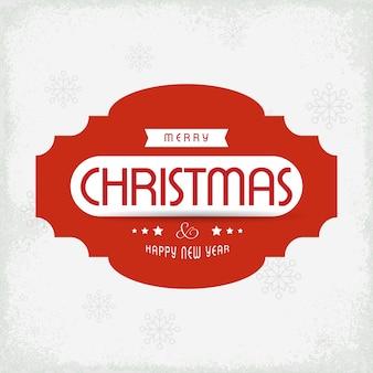 Plakat świąteczny. wesołych świąt. szczęśliwego nowego roku. świąteczna odznaka