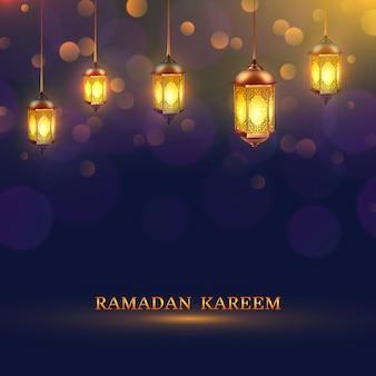 Plakat światła ramadan