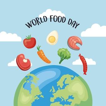 Plakat światowego dnia jedzenia