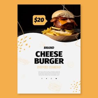 Plakat szablon amerykańskiej żywności