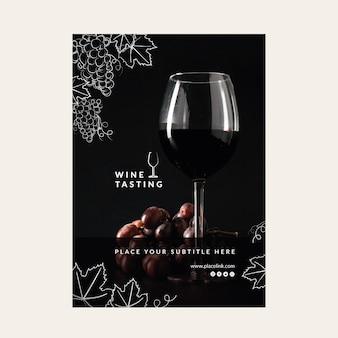 Plakat szablon degustacji wina