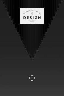 Plakat szablon projektu z prostych elementów geometrycznych w czerni i bieli