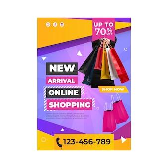 Plakat szablonu zakupów online