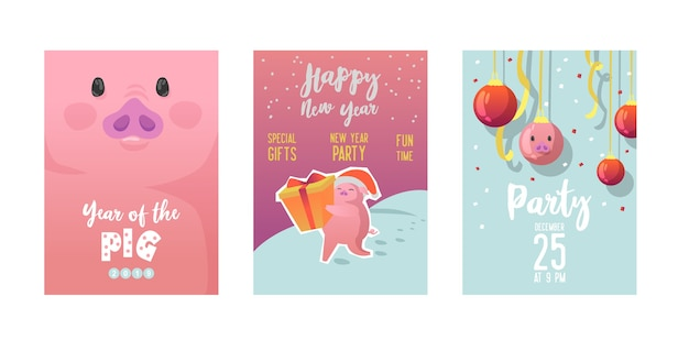 Plakat szczęśliwego nowego roku