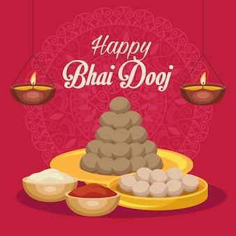 Plakat szczęśliwy bhai dooj