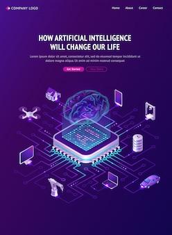 Plakat sztucznej inteligencji