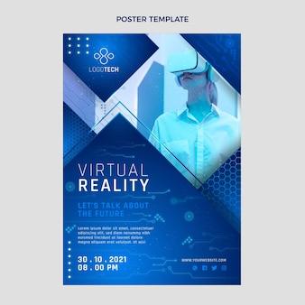 Plakat technologii gradientowej tekstury