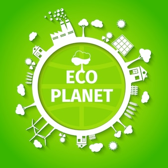 Plakat tło planety eco