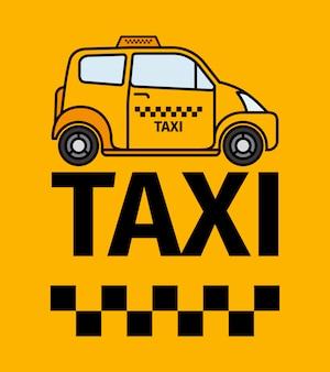 Plakat transport taksówką w londynie