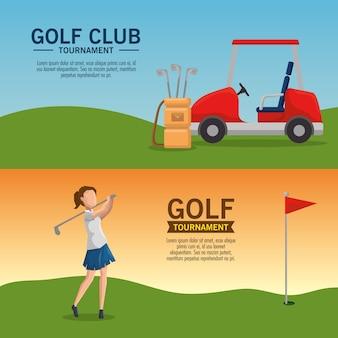 Plakat turniej golfa