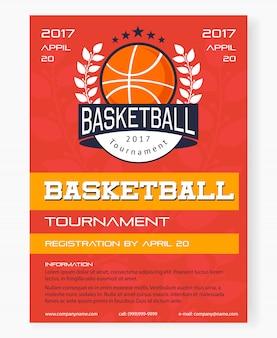 Plakat turnieju koszykówki
