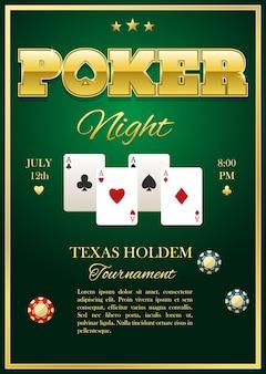 Plakat turnieju pokera