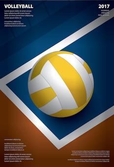 Plakat turnieju siatkówki