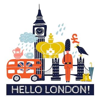 Plakat turystyczny w londynie