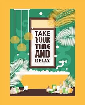 Plakat typografii bath