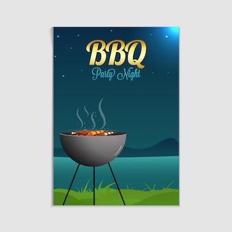 Plakat, ulotka, szablon lub zaproszenie na grilla.