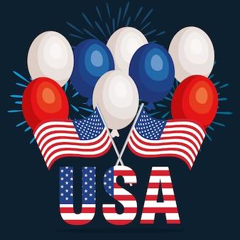 Plakat uroczystości dnia niepodległości usa