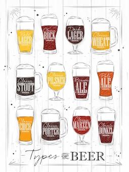 Plakat węglowy do piwa