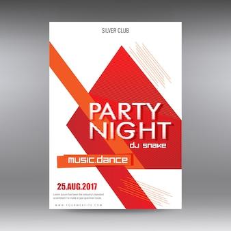 Plakat wieczoru partyjnego