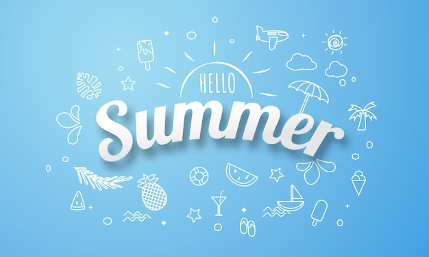 Plakat wiosna lato