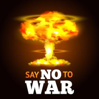 Plakat wybuchu jądrowego
