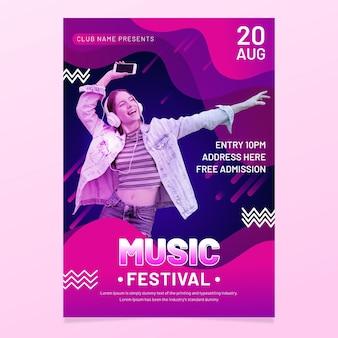 Plakat wydarzenia muzycznego