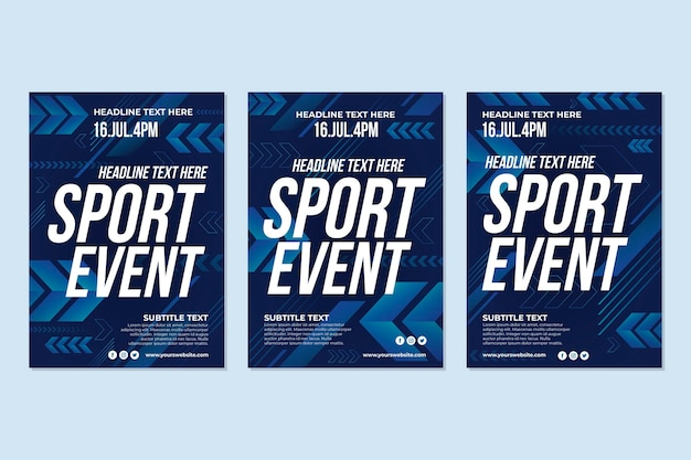 Plakat wydarzenia sportowego 2021