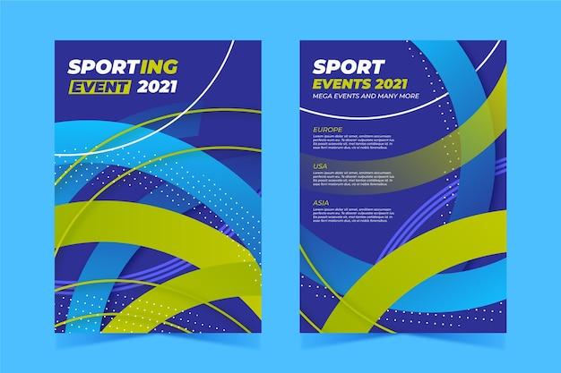 Plakat wydarzenia sportowego na 2021 r