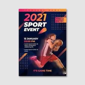 Plakat wydarzenia sportowego