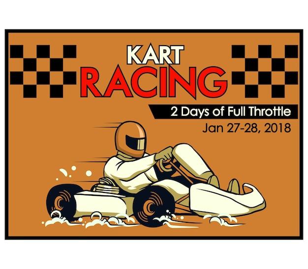 Plakat wyścigowy kart