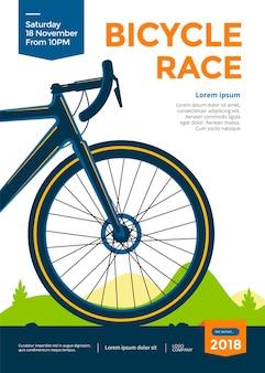 Plakat wyścigu rowerowego