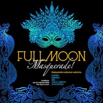Plakat z balem masquerade