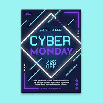 Plakat z cyber poniedziałek a4