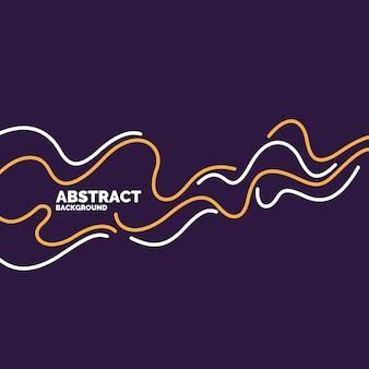 Plakat z dynamicznymi falami ilustracja minimalistyczny płaski styl