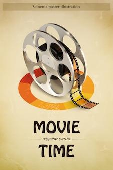 Plakat z filmem kinowym