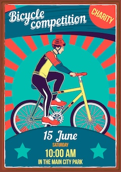 Plakat z ilustracją rowerów