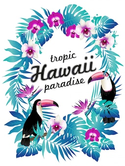 Plakat z imprezą hawajską